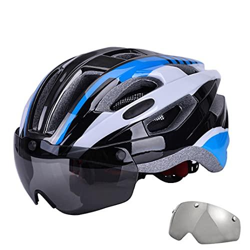 Feicuan Casco Bicicleta Adultos con Visera Magnética - Casco de MTB Gafas...