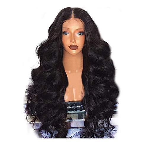 Wotryit Black Brazilian Remy Silk Fiber Hair Body Wave Hair Wigs For Luxury and Elegant Women(Length:65-68cm)