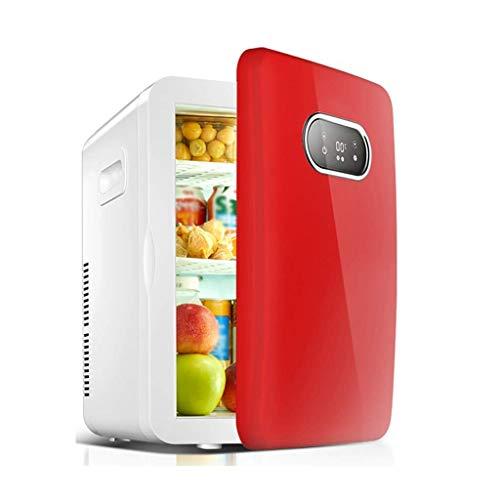 CHOUCHOU Étagère Rétro Voiture Réfrigérateur Accueil Bureau Location Double Usage Mini dortoir avec Petit congélateur Chilled 36 * 30 * 42cm (Couleur: Rouge), Taille Nom: Rouge (Size : Red)