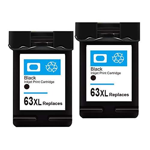 Compatible para HP 63XL, cartucho original de alto rendimiento, 2 Paquete, trabajo con HP 4520 4650 3632 2130 3630 3830