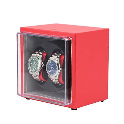 XQAQX Watch Winder Automatico Doppio Orologio rotore di avvolgimento con Motore Silenzioso 5 direzioni di Rotazione per 2 Orologi Orologi rotanti, Regalo
