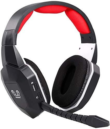 Oreillette Bluetooth sans fil Casque sans fil, 2,4 GHz optique stéréo réducteur de bruit Casque Gaming avec son surround 7.1 Batterie for micro amovible Mac PS3 4, for Xbox One for Xbox 360 TV PC