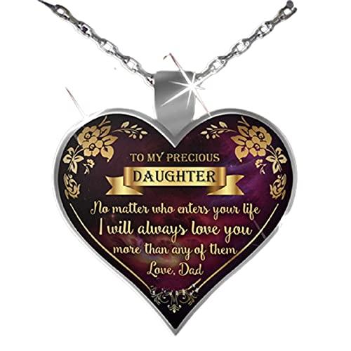 woyada Collar de mi mente corazón, joyería especial con forma de corazón, regalo para Navidad, cumpleaños, día de San Valentín