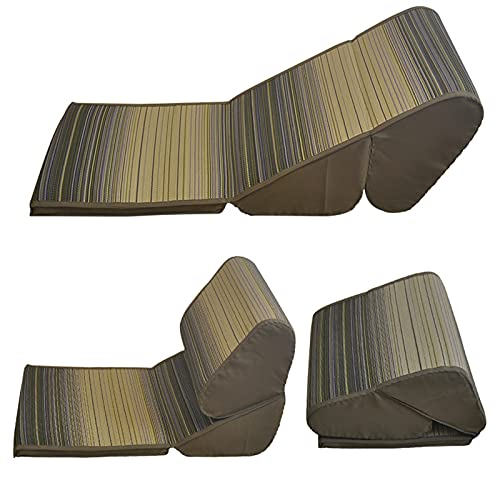 Patio Silla de salón, Suelo de Tatami Plegable Caja de caño Meditación Yoga Tradicional Sillones Sillones Lazy Sofá Caja Plegable Chaise Lounge por CHENGYSTE (Color : Green)