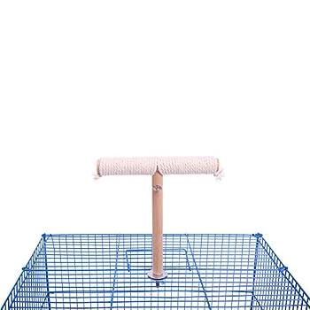 QBLEEV Perchoir à Oiseaux, Cage à Oiseaux, Supports de Cage à Oiseaux, Supports de Jeu pour Perruche, Perruche, cacajou, Cotton Rope birdstand