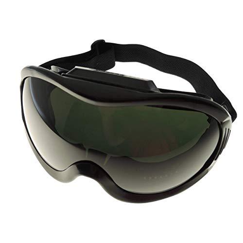 Schweißerbrille | CEEN175 B | Kratzfeste Schutzgläser | antibeschlag-Beschichtung | Schutz vor UV/IR Strahlung | 180° Sichtfeld | Passform verhindert Eintritt von Flüssigkeiten