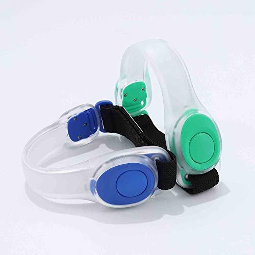 Runmi Brazaletes LED para correr, brazaletes deportivos, pulsera de seguridad, para correr y ciclismo, accesorios para mujeres y hombres (paquete de 2)