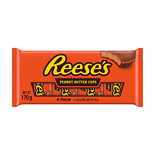 Reese's Pindakaas kopjes Multipack, melkchocolade-smaakkopjes, 4 x 42,5 g