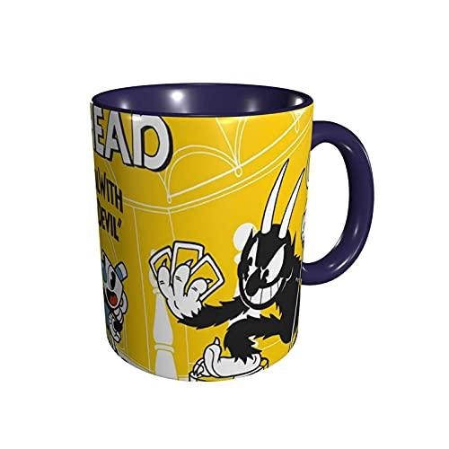 jianpanxia Cuphead Game Novelty Ceramics Kaffeetassen, hitzebeständiger klassischer gebogener Tassengriff Kaffeetasse Geschenk für Familie, Freunde und Liebhaber.