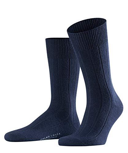 FALKE Herren Socken Lhasa Rib - Merinowoll-/Kaschmirmischung, 1 Paar, Blau (Dark Navy 6370), Größe: 43-46
