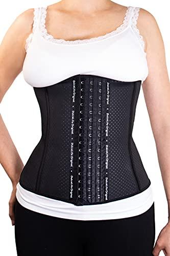 Dulcelife Faja Reductora Cinturilla Latex Flex para Mujer | Ayuda a Reducir Vientre, Cintura y Espalda | Faja para Deporte | Faja Postparto | Corrección Postural y Abdominal | Talla M | Negro