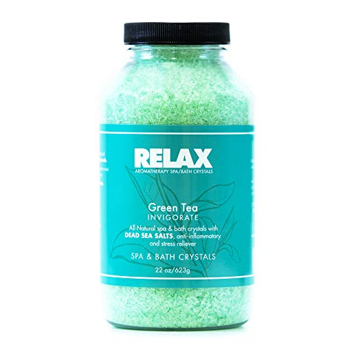 Escape Aromatherapy Bath Crystals -Pack of 4, 22 Oz- All Natural Dead Sea Salts - Aroma Therapy for Hottub, Spa