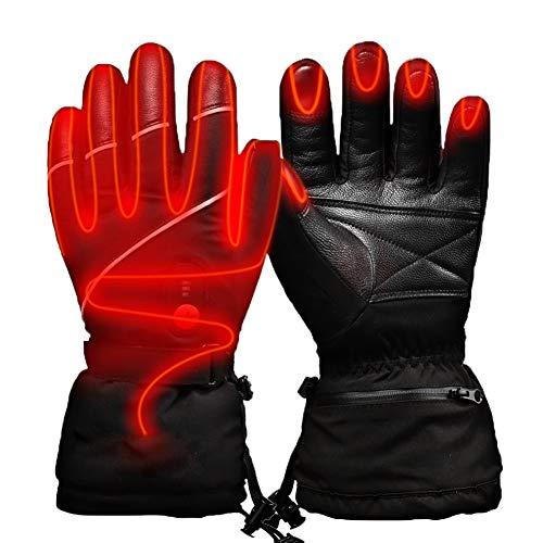 Xiaoyezi Elektrisch beheizte Handschuhe, warme Handschuhe für Männer Frauen Sport 3 Heizstufen Einstellbarer Touchscreen wasserdichte Winterhandschuhe für alle Arten von Outdoor-Aktivitäten,XS
