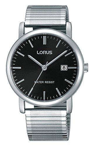 Lorus Watches Orologio da polso da uomo classico al quarzo, analogico, in acciaio inox rivestito rg857cx9