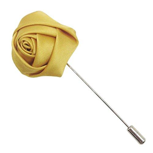 Interesting Ramillete de Flores de Seda de Color Rosa en el Ojal de la Solapa de la Boda del palillo de la Broche del Pin de los Novios