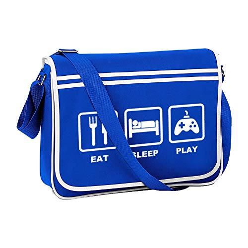 EAT SLEEP GAME- consola arcade gamer, gamepad - Bolsa de mensajero retro...