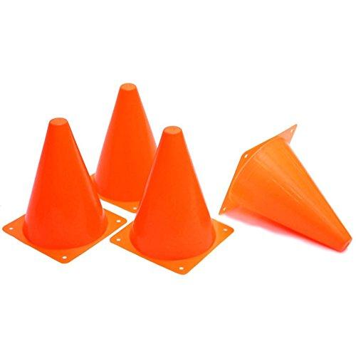 Soulitem 12PCS 18cm dazzling Toys Traffic Orange Cones Marker naturalmente Football equitazione Excercise forniture