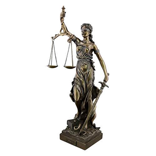 Veronese Diosa Griega Antigua Themis/Blind Lady Justice (Estatua Decorativa de Bronce/Resina/Escultura 50cm / 19.68in)