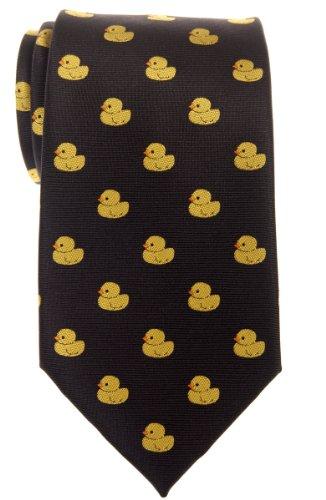 Corbata para hombre con diseño de patos de goma de Retreez, tejido de microfibra Negro negro Talla única