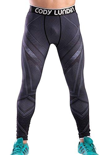 Cody Lundin Impreso Polainas Masculina de película héroe Logo Hombres Pantalones Largos Fitness Culturismo Apretado (XL, Color-f)