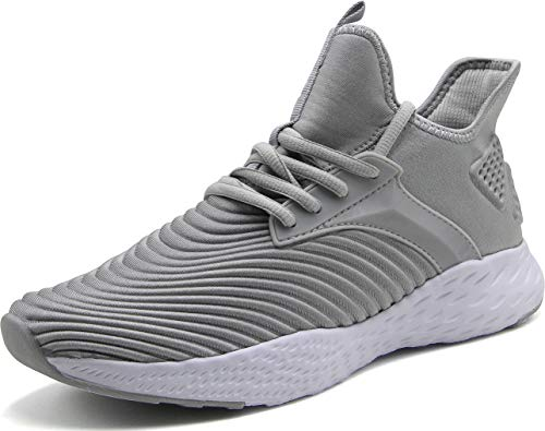 Weweya Running Shoes Men Athletic Gym Casual Walking Shoes Light Grey 7 M US Tennis & Racquet Sports Shoes Fitness...