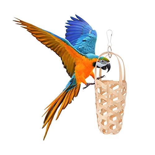CHENSHJI Juguete triturador de Loros de Aves Parrot Forging Basket Food Basket Bastes Forging Basket Parrot Masticing Juguete para la Tienda Home (Color : Natural, Size : One Size)