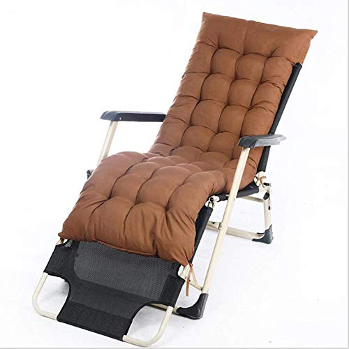 Indoor Outdoor Chair Cushion Patio Chaise Lounger Cushion Thicken Garden Rocking Chair Cushion Soft Cushion Extra Large Sun Lounger Cushion-Brown 165x50cm(65x20inch)