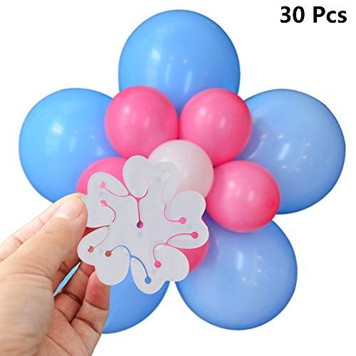 zooting 30 Stück Tragbare Blume Form Ballon Clips ,Luftballons Zubehör Ballonverschlüsse für Verschluß Verbinder Ballon,Ballonkette Bogen Girlande Streifen für Geburtstags Hochzeit Party Dekoration