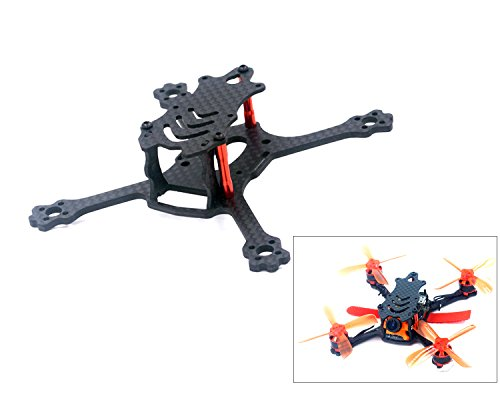 Usmile ALFA-Genie110 110mm 2.4 inch FPV Frame Stretch X Micro Carbon Fiber Quadcopter Frame Kit Mini Quad FPV Racing Drone with 2.5mm Arm Support for Runcam Micro Swift, Micro Sparrow FPV Camera
