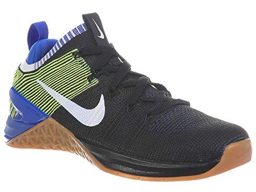 Nike Men's Metcon DSX Flyknit 2 Running Shoe (10, Black/White/Racer Blue/Volt)