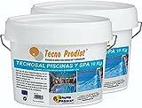 Tecno Prodist TECNOSAL Piscinas y SPA Pack 2 x 10 kg - Sal Especial para la cloración Salina de Piscinas, SPA y Jacuzzis - En Cubo Fácil Aplicación