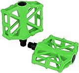 1 par Pedales de Bicicleta de Aluminio ultraligeros, Pedales Planos Antideslizantes de 9/16',Antideslizantes y duraderos para Ciclismo de Carretera. (5 Colores)