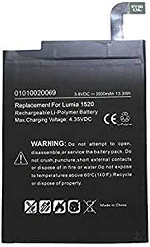 AccuCell - Batería para Nokia Lumia 1520, Nokia Lumia BV-4BW (3,8 V,...