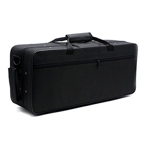 Andoer® 600D Wasserdicht Gig Tasche Kasten Rucksack Oxford Tuch für Trompete mit verstellbaren Doppel Schultergurt Tasche Schaum Baumwolle Gepolsterter