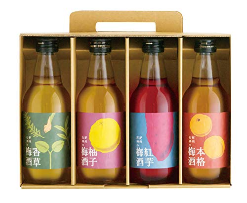 紀州石神の梅酒 飲み比べセット 300ml×4種 各1本 濱田 紀州完熟梅使用 完熟梅のフルーティーな味わい