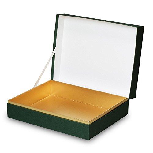 【メーカー直送品のため代引不可】高級ギフト箱 貼り箱ALLESシリーズ ヒンジケース1072【緑】 30個セット (ギフトボックス お菓子 贈答用 箱 菓子箱 化粧箱)