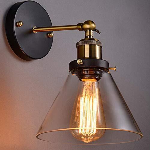 SISVIV Lampada da Parete Vintage Industriale in Vetro Applique...