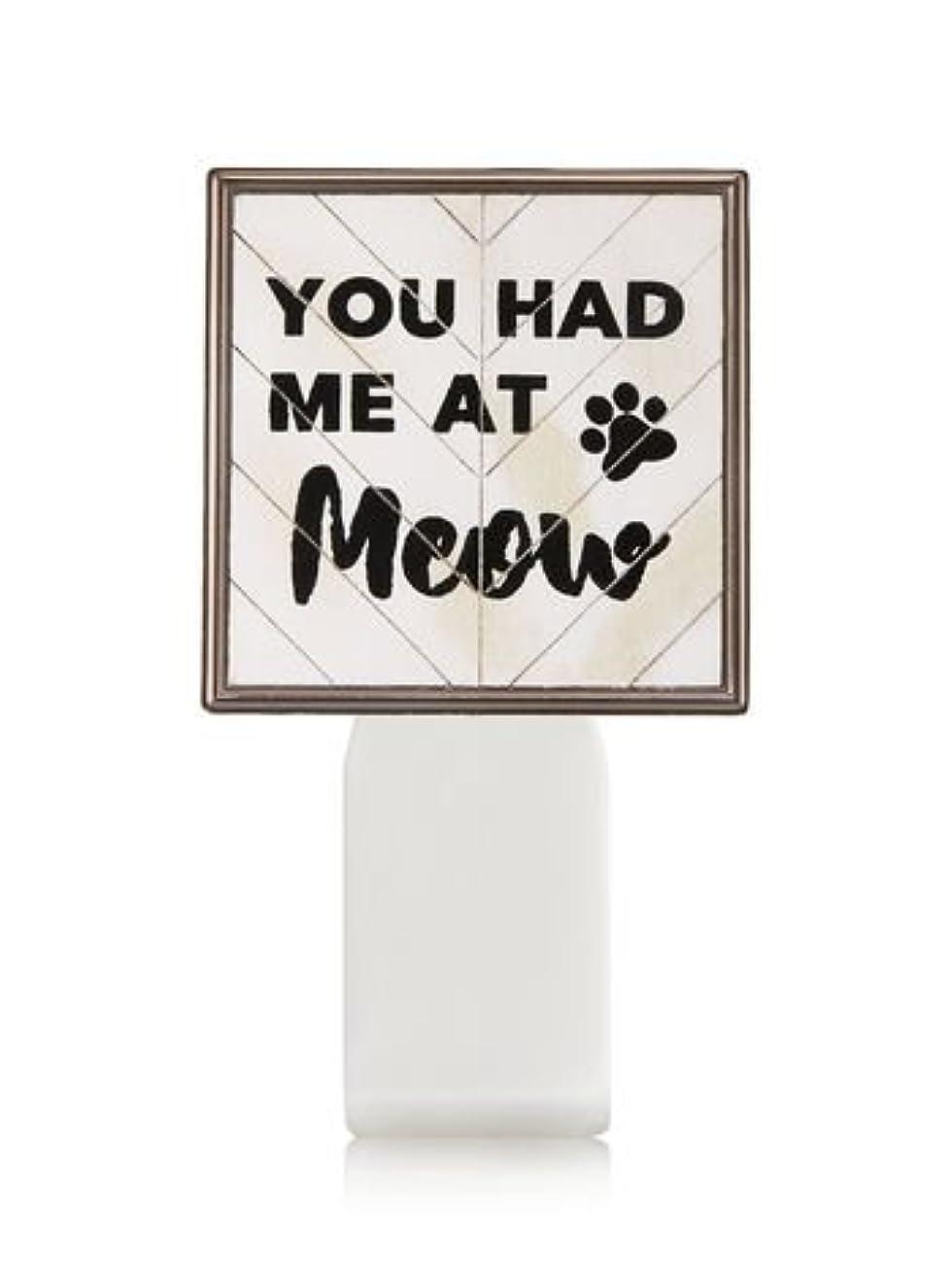 予報舌な色合い【Bath&Body Works/バス&ボディワークス】 ルームフレグランス プラグインスターター (本体のみ) キャット シールド Wallflowers Fragrance Plug You Had Me At Meow [並行輸入品]