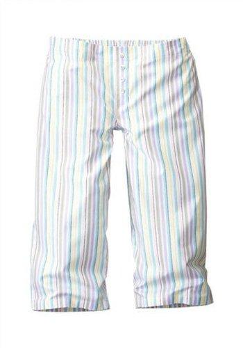 Petite Fleur Shorty Schlafanzug kurz Shirt Capri rosa Streifen Gr. 32