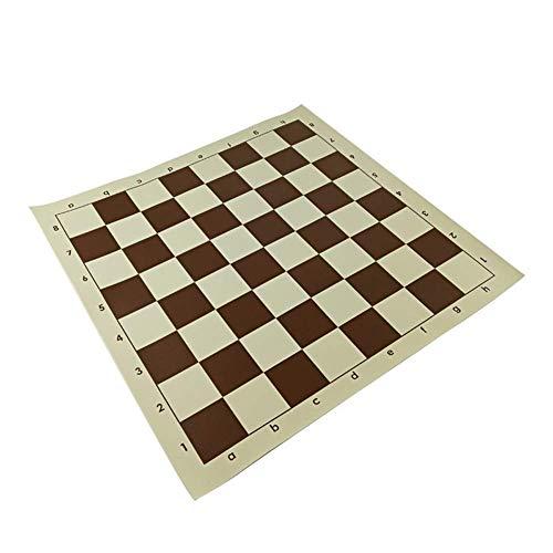 Jszzz PVC Schachbrett Set Schach-Spiel Brettspiel Zubehör Mobile Soft-Schachbrett Standard-Schachbrett 43 * 43 cm (Größe: 43 * 43 cm) (Size : 43 * 43 cm)