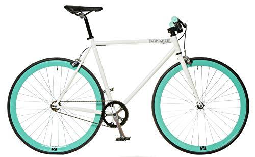 FK Cycling Bici Fixie Kamikaze SS Blanca/Celeste (560)