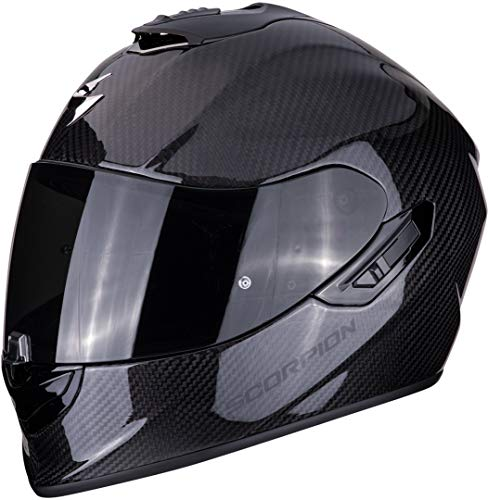 Scorpion Casco de moto EXO 1400 AIR CARBON Solid 2476_25850, Negro, L