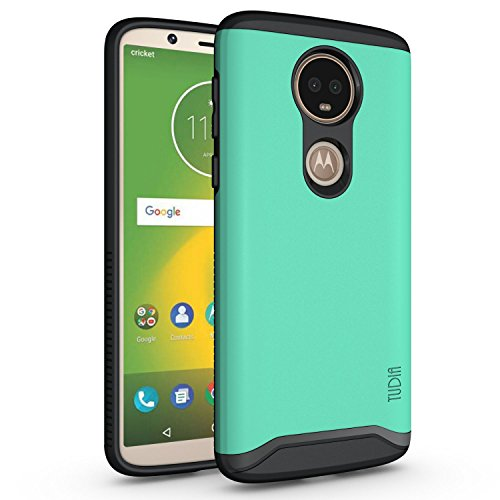TUDIA Motorola Moto E5 Plus Hülle, Slim-Fit Merge Dual Layer Schutzhülle für Motorola Moto E5 Plus (Minze)