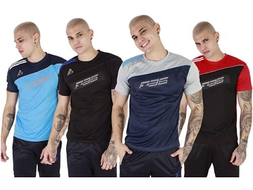 Kit 06 Camisa Masculina Poliester Fit Academia Esportes - G