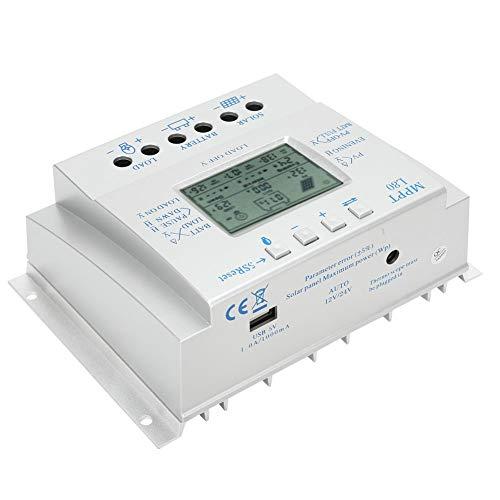 Regulador de carga Solar fotovoltaica PWM de 12 V / 24 V, controlador de carga Solar MPPT de alta eficiencia para control de generador