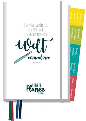 Lehrer-Planer 2019/2020 A5+ [Welt verändern] Lehrerkalender mit Sprüchen, Stickern und vielen nützlichen Features - smart & gut gelaunt das Schuljahr planen!
