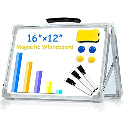 Amazon - Save 50%: Small Dry Erase White Board,16X12Inches Portable Double-Sided M…