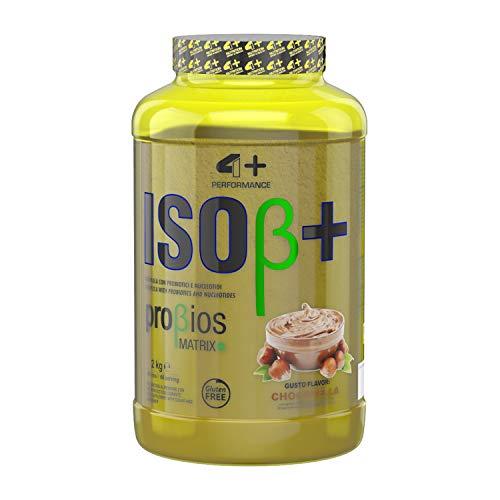 4+ NUTRITION - Iso ß+, con probiotici 1 confezione proteine del siero del latte isolate proteine del siero del latte proteine proteine in polvere (Chocotella, 2000g)