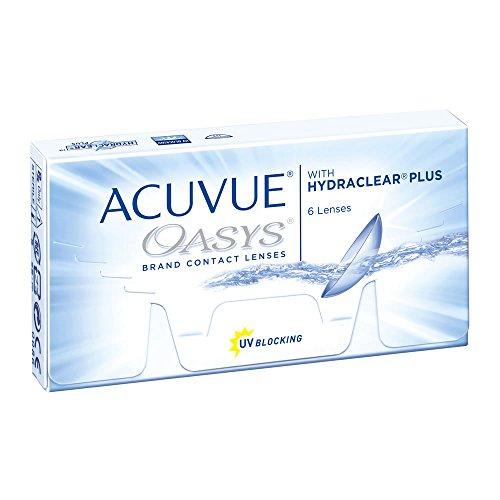 Acuvue Oasys with HydraClear Plus - Lentes de contacto blandas mensuales (R: 8,4 / D : 14,0 / -1 Diop) pack de 6P
