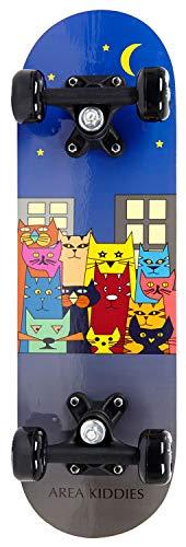 AREA Unisex Jugend Kinder Skateboard Cats, Mehrfarbig, 20